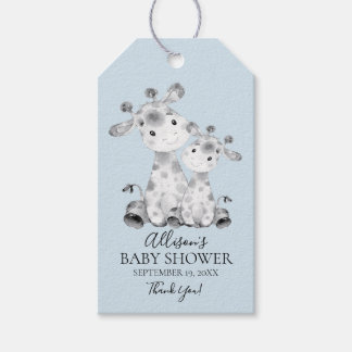 Giraffe Baby Shower Favor Gift Tag