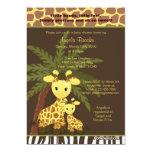 Giraffe Baby Shower Invitation Safari Jungle Mummy