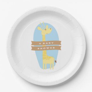 Giraffe Baby Shower Party Decor Paper Plate