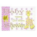Giraffe Baby Shower Personalized Invite