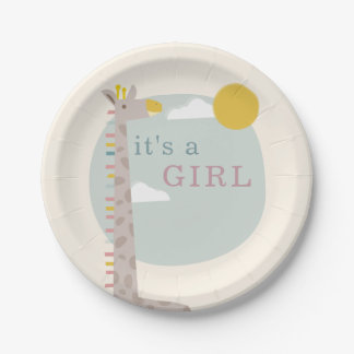Giraffe Baby Shower Plates