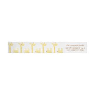 Giraffe Baby Shower Return Address Label Wraparound Return Address Label