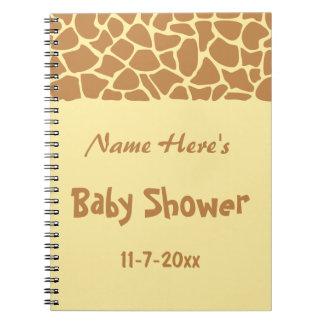 Giraffe Baby Shower Spiral Notebook