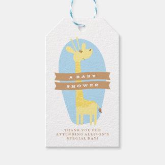 Giraffe Baby Shower Thank You Gift Tag