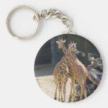 Giraffe Basic Round Button Key Ring