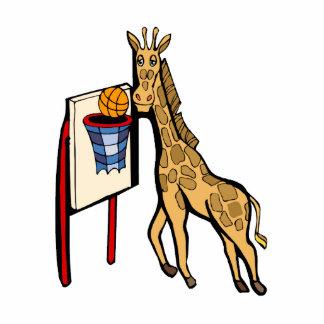 Giraffe Basketball Standing Photo Sculpture