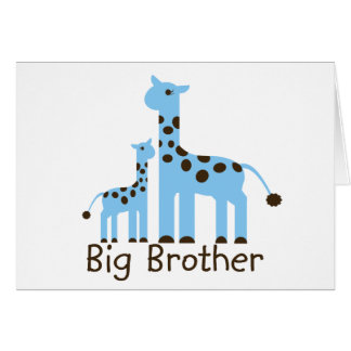 Giraffe Big Brother Greeting Card