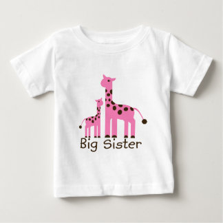 Giraffe Big Sister T Shirts