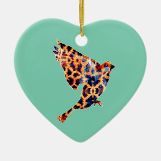 Giraffe Bird Ceramic Heart Decoration