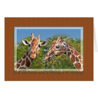 Giraffe Birthday Card