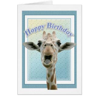 Giraffe Birthday Cards