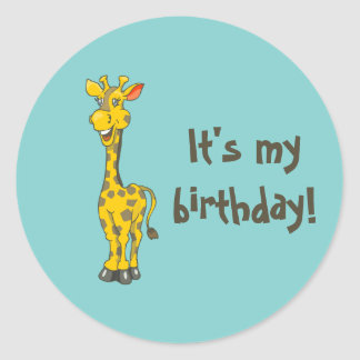 Giraffe Birthday Sticker