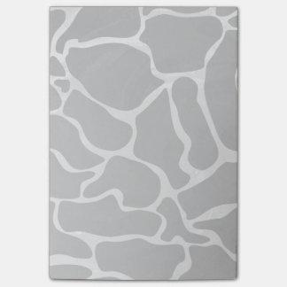 Giraffe Black and Light Gray Print Post-it Notes