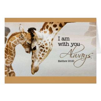 Giraffe blank card