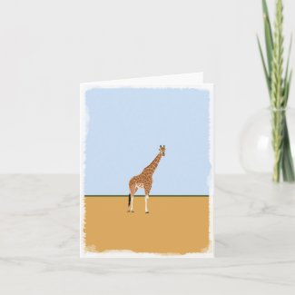 Giraffe blank greeting card