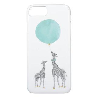 Giraffe & Blue Balloon iPhone 7 Case