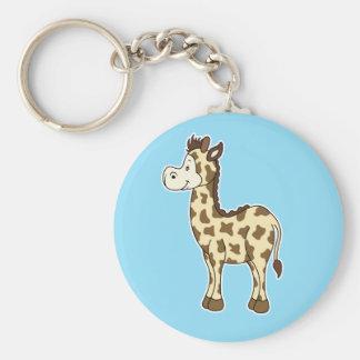 Giraffe Blue keychain