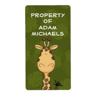 Giraffe Bookplate Label