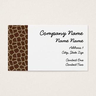 Giraffe Border Business Card