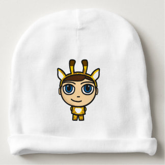 Giraffe Boy Cartoon Character Beanie Hat Baby Beanie