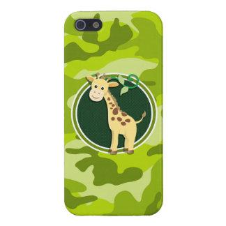 Giraffe bright green camo camouflage iPhone 5 cases