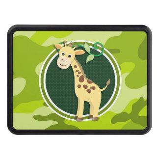 Giraffe; bright green camo, camouflage