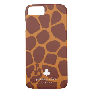 Giraffe (Burgundy-Tan) iPhone 8/7 Case