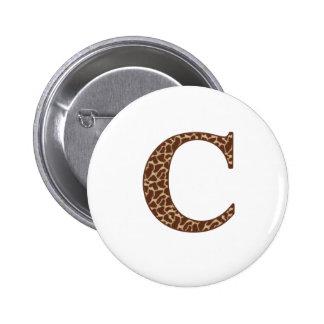 Giraffe C 6 Cm Round Badge
