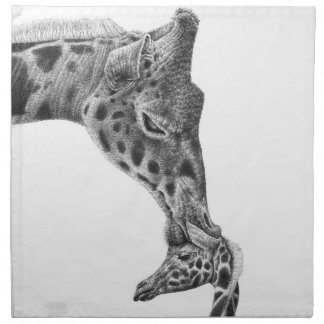 Giraffe & Calf American MoJo Napkins
