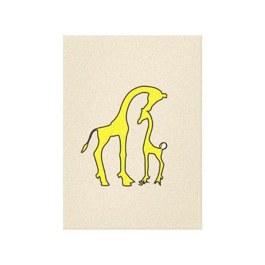 Giraffe canvas art