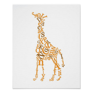 Giraffe Canvas Poster
