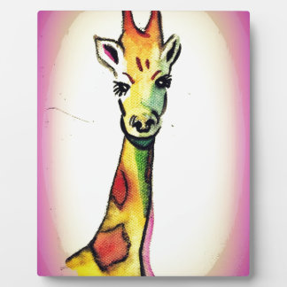 Giraffe Cartoon Art Plaque