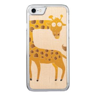 giraffe cartoon. carved iPhone 8/7 case