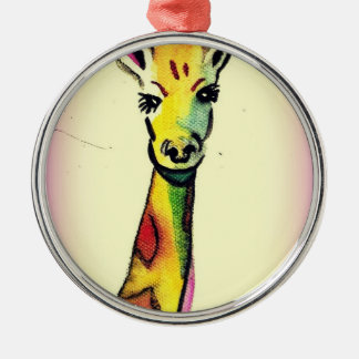 Giraffe Cartoon Christmas Ornament