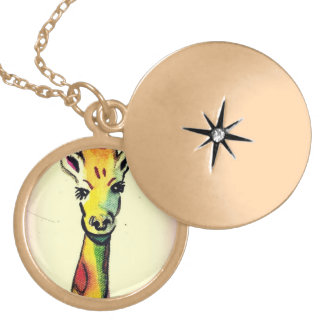 Giraffe Cartoon Necklace