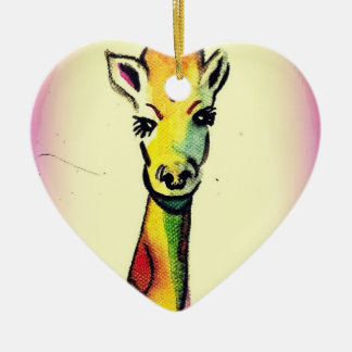 Giraffe Cartoon Ornament