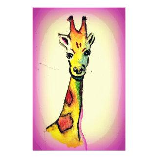 Giraffe Cartoon Stationery