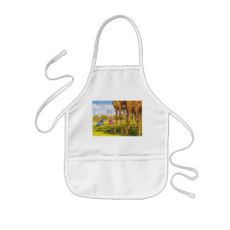Giraffe cartoons for kids kids apron