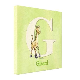 Giraffe - childs room print gallery wrap canvas