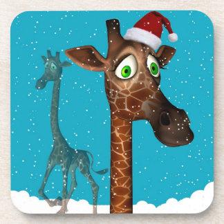 giraffe Christmas Coasters