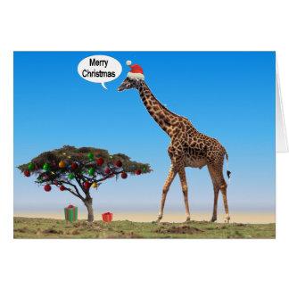 Giraffe Christmas Greeting Card
