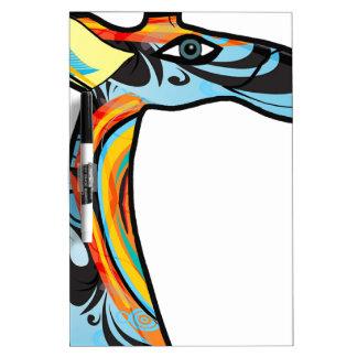 Giraffe colorfull image dry erase boards
