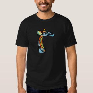 Giraffe colorfull image tee shirt