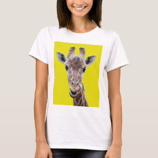 giraffe cutout yellow T-Shirt