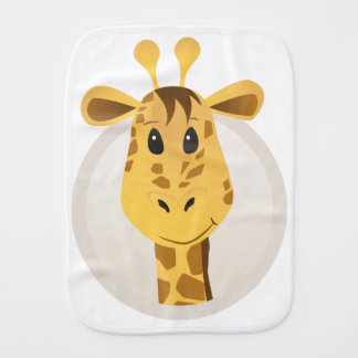 GIRAFFE Design Burp Cloth
