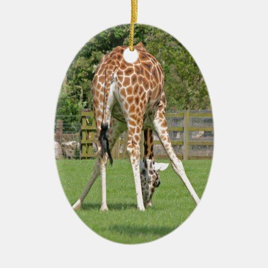 Giraffe Design Christmas Ornament