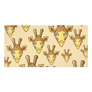 Giraffe Design Custom Photo Card
