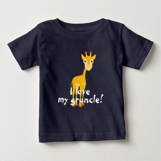 Giraffe design with I love my gruncle! Baby