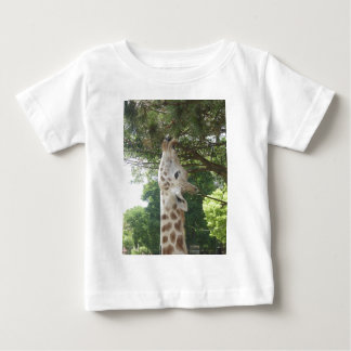 Giraffe Eating Leaf Baby T-Shirt