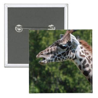 Giraffe Eating Pin